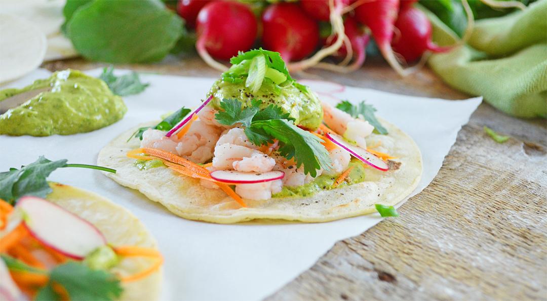 tacos de crevettes nordiques avec mayonnaise l avocat agenda c. Black Bedroom Furniture Sets. Home Design Ideas